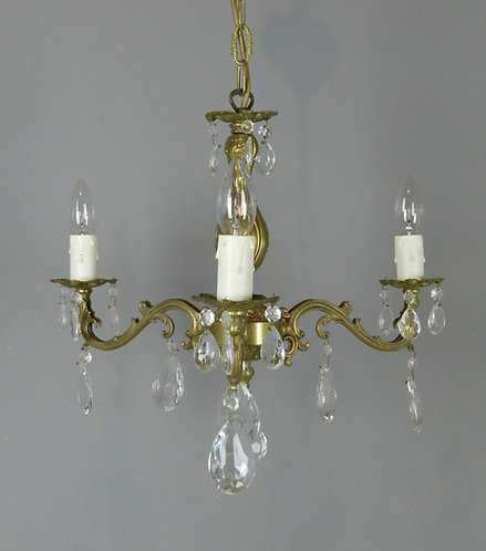 Pretty French Chandelier & Matching Wall Sconces