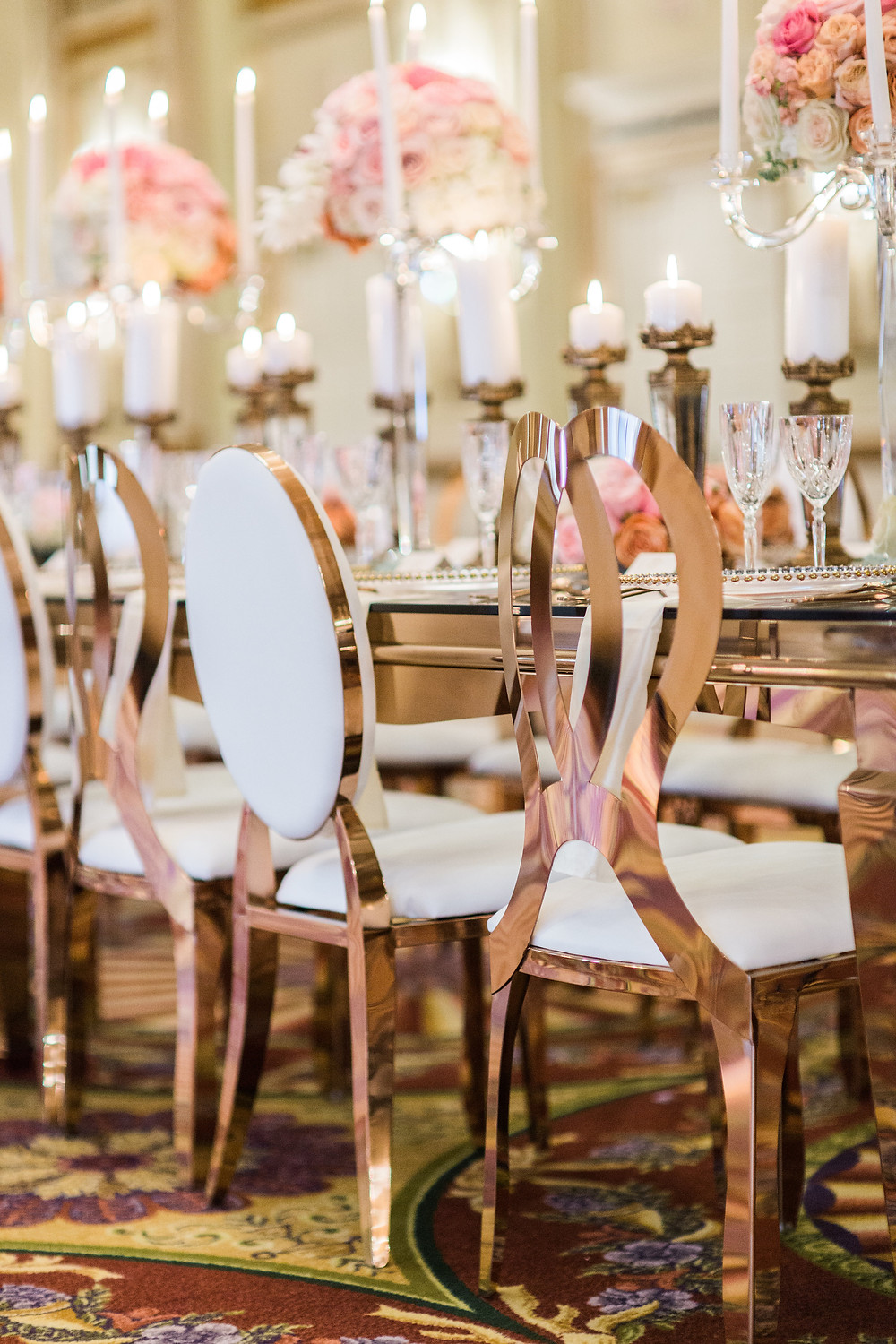 Rose Gold Infinity Chairs