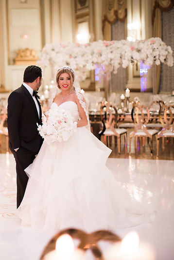Rose Gold Wedding Fairmont Hotel Vancouver