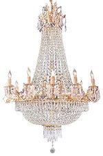 French Empire Gold Crystal Chandelier