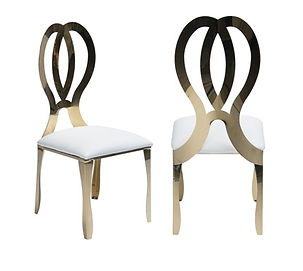 Gold Infinity Chrome Chairs