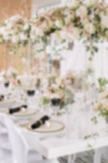 Cloud Floral Design and White table Rentals Vancouver