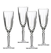crystal champagne glass rental