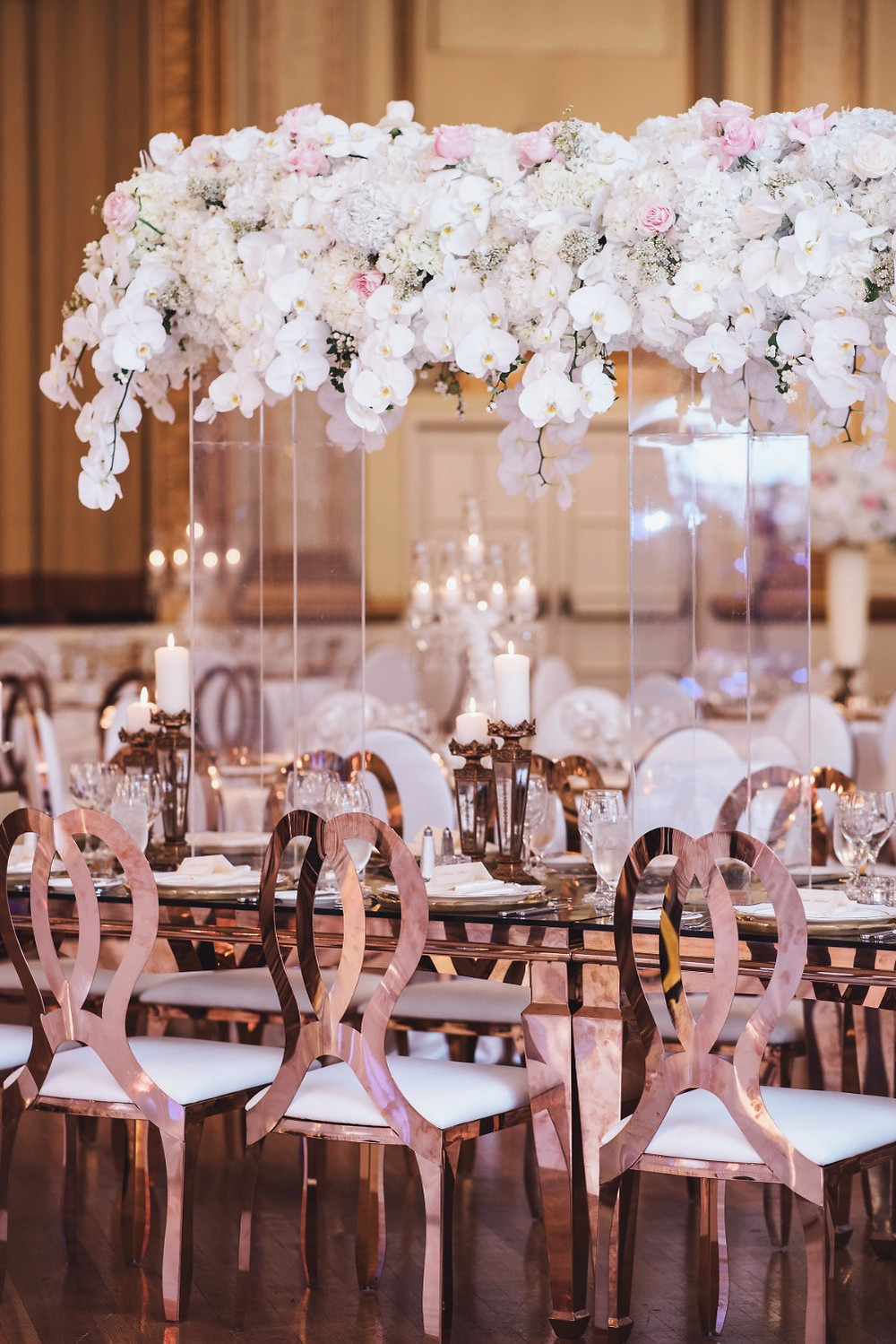 Rose Gold Decor and Chairs