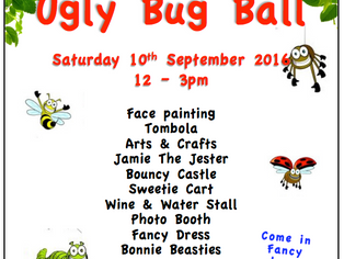 Come along to our Ugly Bug Ball this Saturday