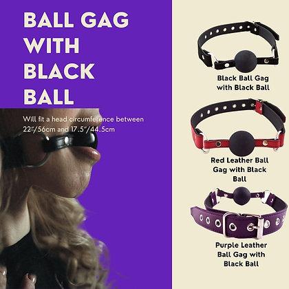 Ball Gag with Black Ball