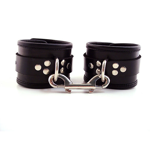 Leather Ankle Cuffs with Piping (RLPA1093)