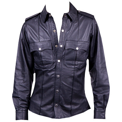 Leather Shirt (Full Sleeves)