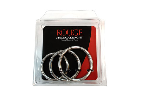 3 Piece Cock Ring Set 45mm, 50mm & 55mm