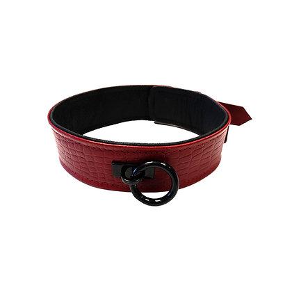 Burgundy Anaconda Collar