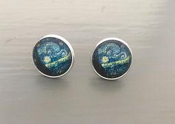 Van Gogh Earrings - Starry Night