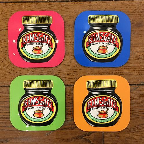 Ramsgate Marmite Set of 4 coasters
