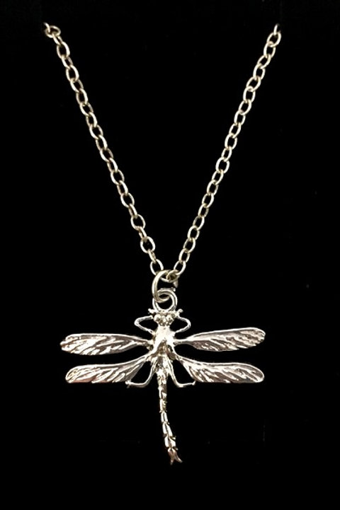 """Tarrant Small Dragonfly necklace with silver plated 16"""" chain"""
