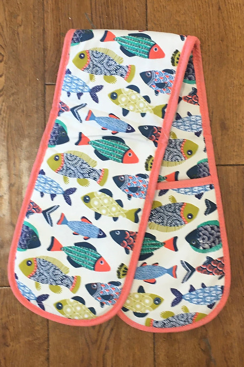 Ulster Weavers 100% Cotton 'Bright Fish' Double Oven Glove