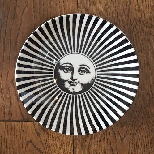 """Fornasetti Inspired 6"""" Plate - Sunburst"""