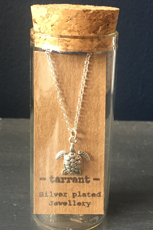Silver plated Sea Turtle necklace