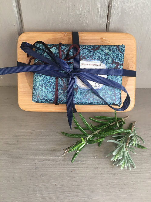Helibore & Linden Blossom Soap with Bamboo Dish
