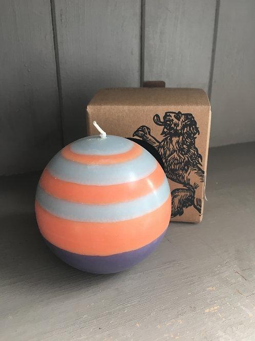 British Standard Fairtrade Orange/Blue Candle