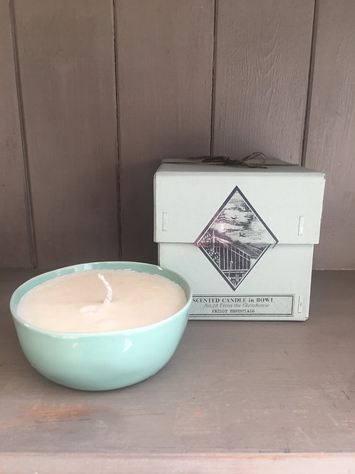 'From the Glasshouse' Scented Soy Candle in Ceramic Bowl
