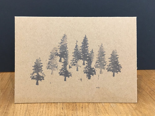 6 x Scandi Forest Kraft Cards (A6)