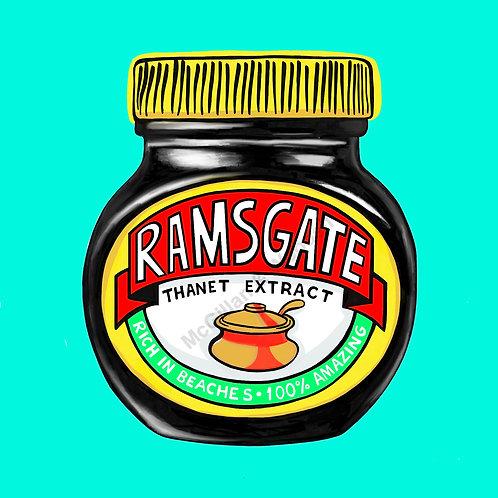 Ramsgate Marmite print - 20 x 20cm - Mint