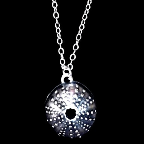 "Tarrant Sea Urchin Necklace with silver plated 16"" chain"