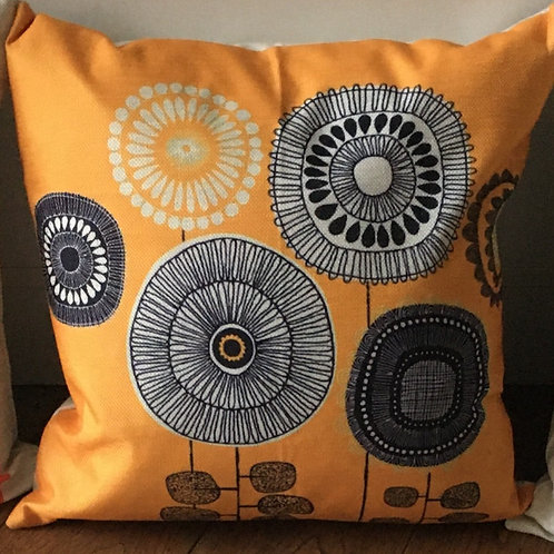 'Golden Field' Cushion with duck feather inner - 46cm x 46cm
