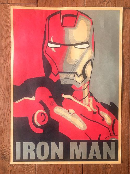 Iron Man Print - 55cm x 31cm