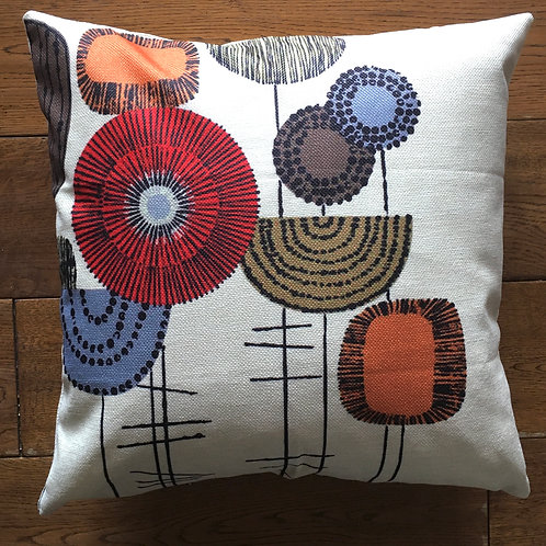 'Tall Stems' Cushion with duck feather inner - 46cm x 46cm