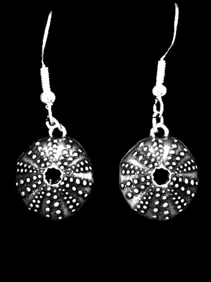 Tarrant Sea Urchin Earrings with silver plated fixings
