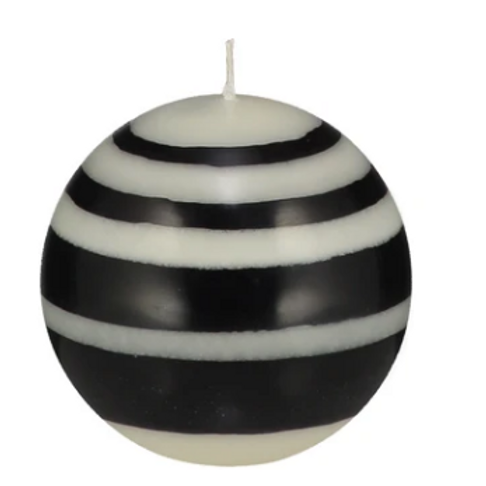 British Standard Fairtrade Black/White Candle