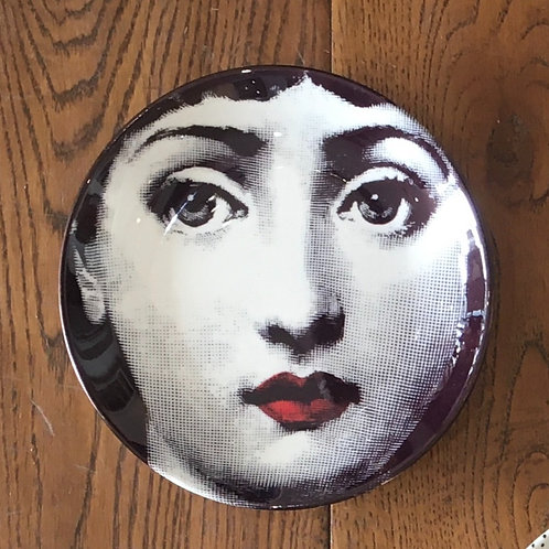 "Fornasetti Inspired 6"" Plate - Red Lips"
