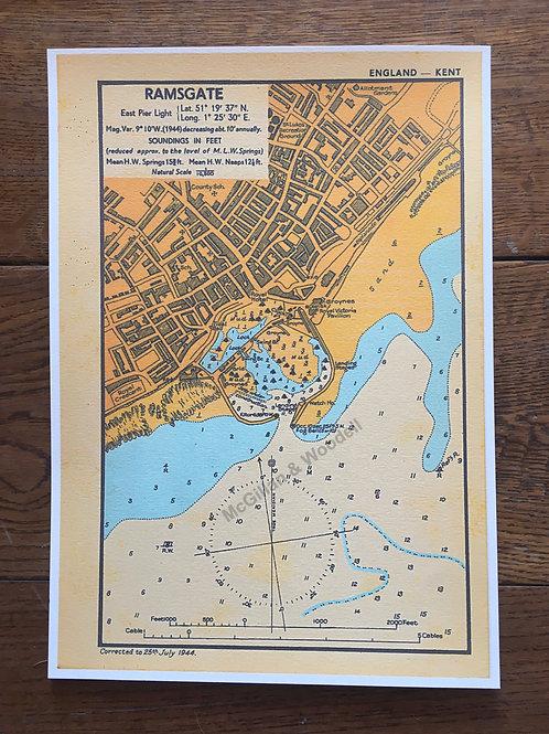 Ramsgate Soundings 1944 - A4 print