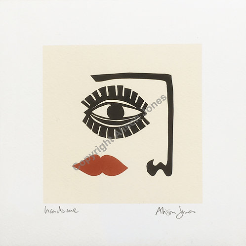 "Alison Jones Signed Print - 'Handsome' (8"" x 8"")"