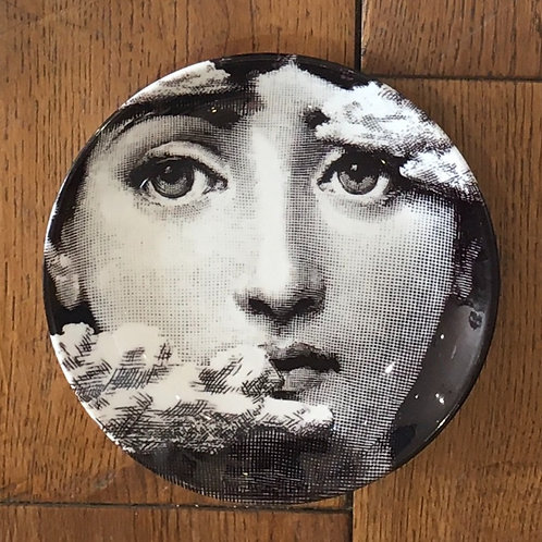 """Fornasetti Inspired 6"""" Plate - Face in the Clouds"""