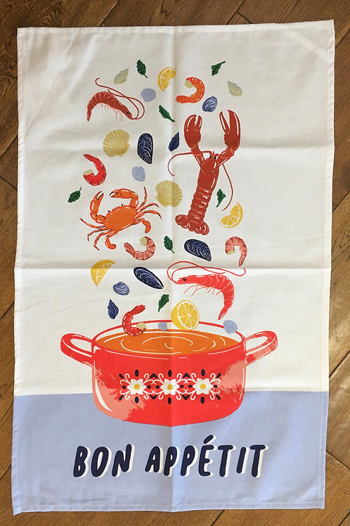 Ulster Weavers 100% Cotton 'Bon Appetit' Tea Towel