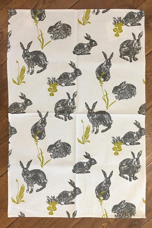 Ulster Weavers 100% Cotton 'Hares' Tea Towel