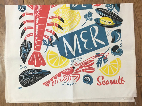 Ulster Weavers Seasalt 100% Cotton Tea Towel - 'Fruits de mer'