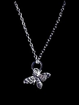 "Tarrant Silver Plated Bee Necklace with 16"" chain"
