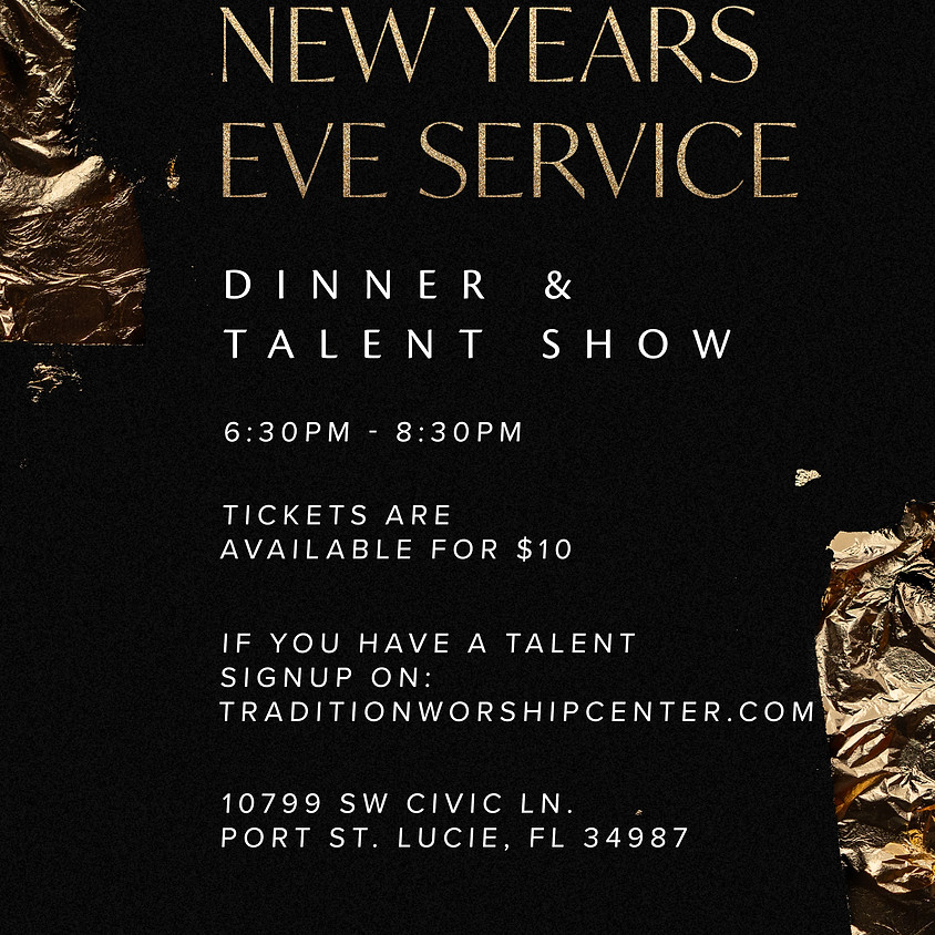 New Years Eve Dinner & Talent Show