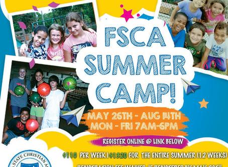 Summer Camp Registration Now Open!