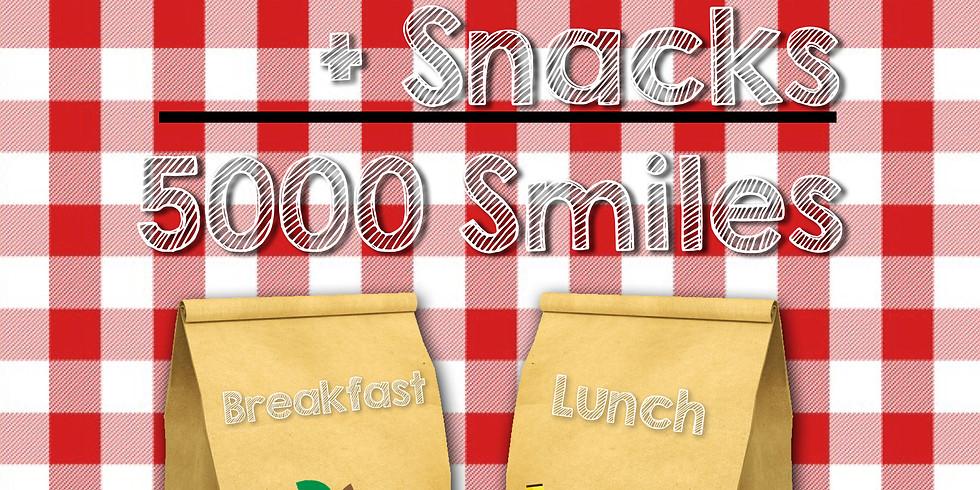 WEEKLY 5000 Meals + Snacks = 5000 Smiles