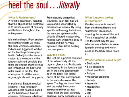 """Reflexology article in NHS magazine """"Your Choice"""""""