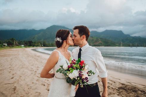 couples photographer beautiful hanalei bay wedding
