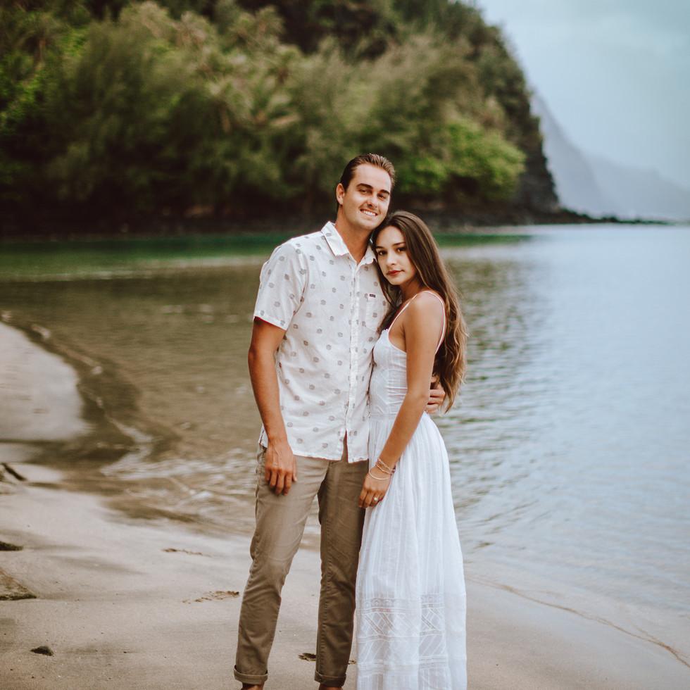 a portrait session on the island of kauai.