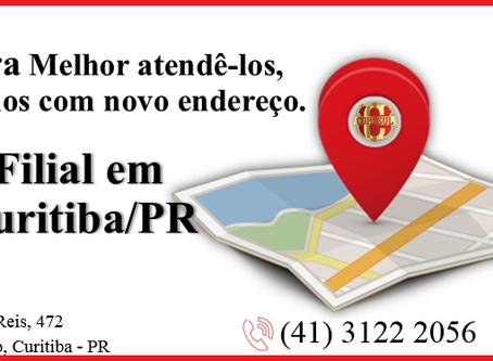 Novo Endereço! Filial Curitiba/PR