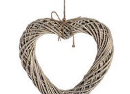 Wicker Hanging Heart