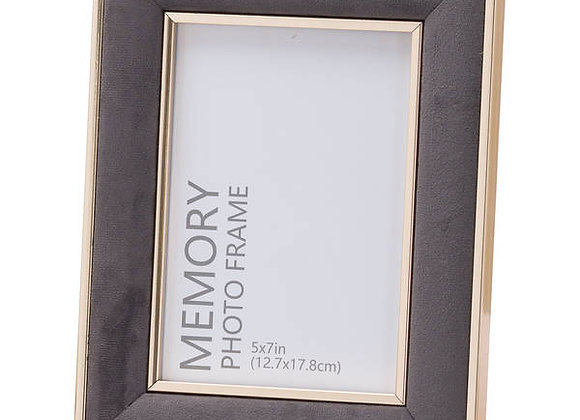Grey velvet photo frame