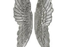 Large Silver Angel Wings