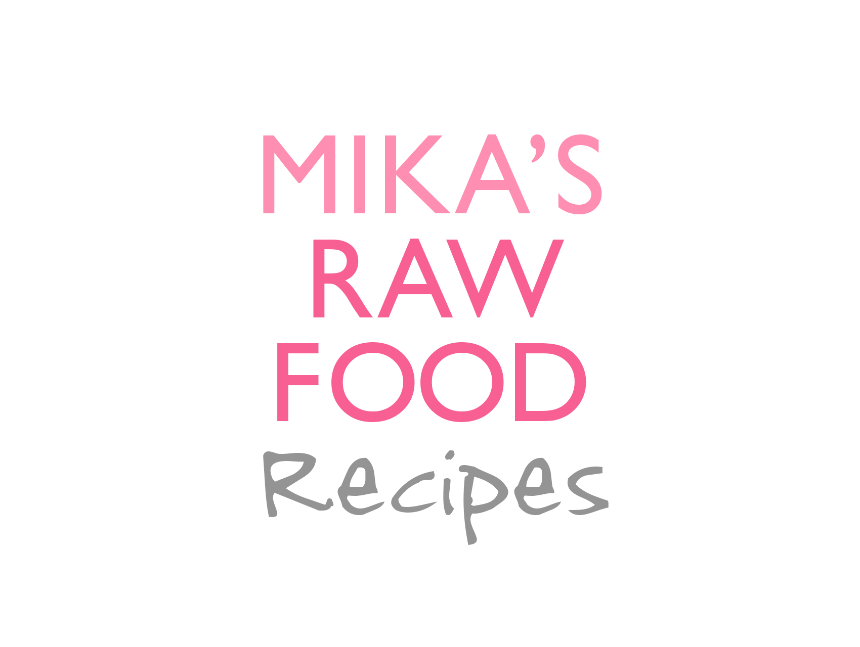 Mika's raw food Recipe Logo Design